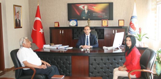 """Ünal ve Eroğlu'ndan """"KAYMAKAM SARIDOĞAN'A"""" ZİYARET"""