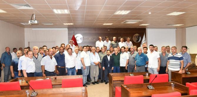 Sarıçam Belediye Başkanı Uludağ, muhtarlarla bir araya geldi