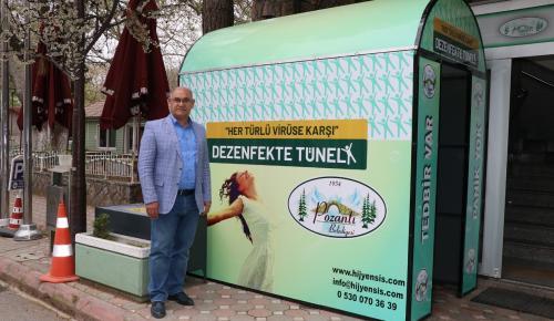 Pozantı Belediyesi Koronavirüse Karşı Dezenfeksiyon Tüneli Kuruldu
