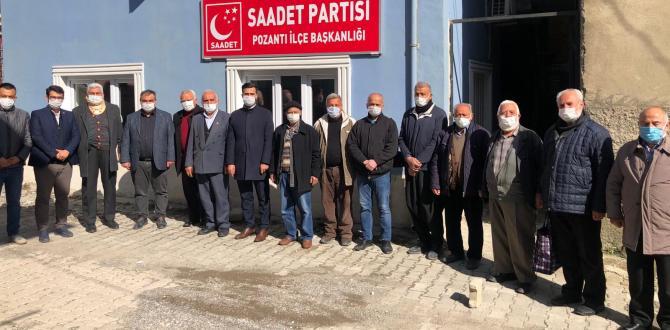 SAADET PARTİSİNDEN TOPLANTI VE ZİYARETİ