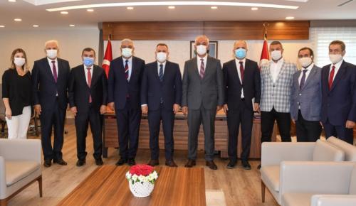 VALİ ELBAN'A AHİLİK HAFTASI ZİYARETİ
